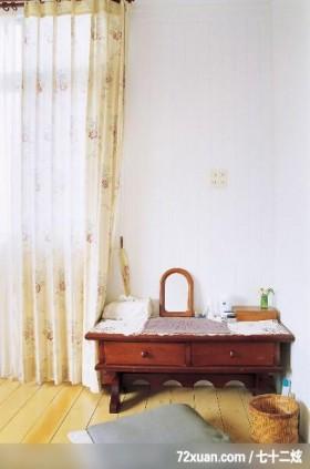 欧风田园式的绿意居家,东易日盛亚奥工作室,田伟,卧室,化妆台,观景窗,