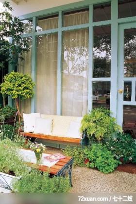 欧风田园式的绿意居家,东易日盛亚奥工作室,田伟,阳台,花圃,穿透设计,