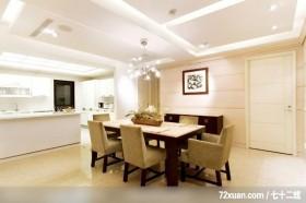 香榭绿舍_03_北市,艺堂室内设计,李燕堂,餐厅,造型天花板,造型主墙,隔间吧台,造型灯光,