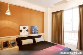 谦卑的日式装饰家居,龙发,王晶,卧室,造型主墙,造型天花板,床头柜,观景窗,