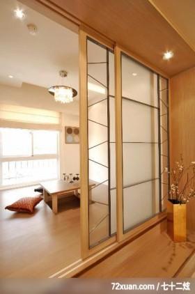 谦卑的日式装饰家居,龙发,王晶,多功能室,拉门,升降桌,造型天花板,垫高地板,