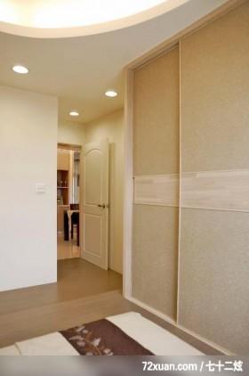 谦卑的日式装饰家居,龙发,王晶,卧室,造型天花板,造型衣橱,