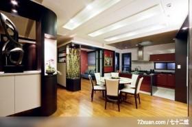 丰品_02_北市,觐得空间设计,游淑慧,餐厅,收纳鞋柜,展示柜,造型天花板,岛型吧台,