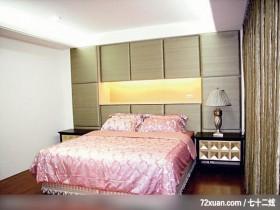 阳光大屋,东易日盛CBD工作室,唐伟,卧室,造型主墙,床头柜,展示柜,造型灯光,造型天花板,
