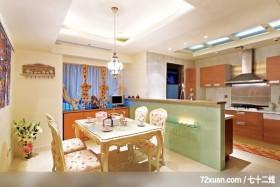 晏禹_03_北市,墨比雅设计团队,王思文,餐厅,造型天花板,流理台主墙,冷气摆放设计,餐具收纳柜,造
