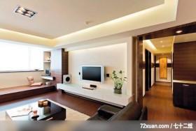 开阔的生活模式,观林室内设计工程,黄传林,客厅,垫高地板,电脑主机收纳柜,造型电视主墙,电视柜,造型