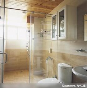 老房翻新技巧,觐得空间设计,游淑慧,浴室,干湿分离隔间,收纳柜,洗脸台面,