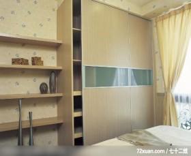 合理的收纳空间,艺堂室内设计,李燕堂,卧室,造型衣橱,收纳层板,阳台落地窗,造型天花板,