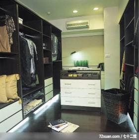 欧式现代风格设计,春雨时尚空间设计,周建志,卧室,更衣室,冷气摆放设计,造型衣橱,