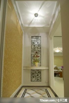 邱舍_03_桃园市,春雨时尚空间设计,周建志,玄关,主墙,造型地板,造型天花板,展示柜,