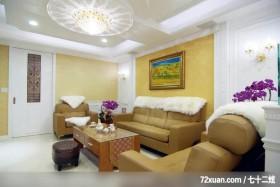 邱舍_03_桃园市,春雨时尚空间设计,周建志,客厅,造型天花板,造型沙发背墙,造型灯光,