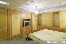 邱舍_03_桃园市,春雨时尚空间设计,周建志,卧室,造型天花板,电视柜,拉门,
