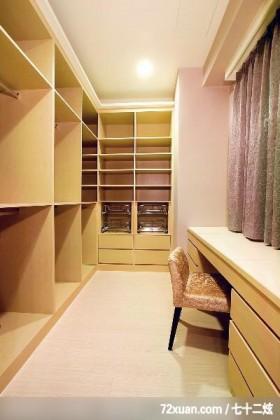 几米_07_北市,观林室内设计工程,黄传林,卧室,造型衣橱,收纳柜,化妆台,更衣室,