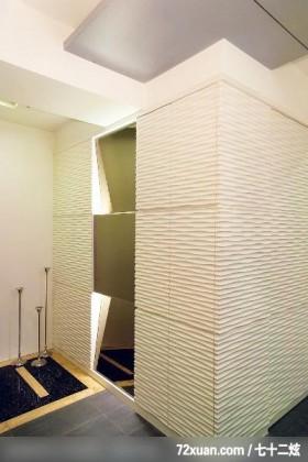 几米_07_北市,观林室内设计工程,黄传林,玄关,整衣镜,造型天花板,造型地板,收纳鞋柜,