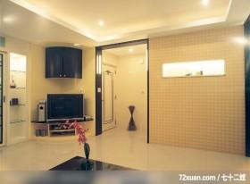中国风装潢,追求回归和知性的感觉,龙发,董文斌,客厅,造型天花板,展示柜,电视柜,视听柜,