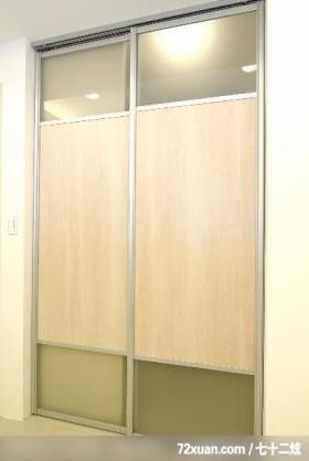现代温馨风格,云邑室内设计,李中霖,卧室,拉门,更衣室,
