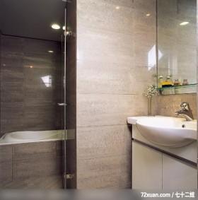 气派庄重塑造个性,龙发,林轶伟,浴室,洗脸台面,收纳柜,干湿分离隔间,