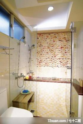 漂亮的风水阁,权释设计,洪韡华,浴室,干湿分离隔间,造型拼贴主墙,造型天花板,汤屋,