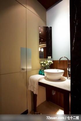 小房子这样也能显的更宽敞,龙发,林轶伟,浴室,洗脸台面,隐藏门,