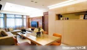 三口之家畅想现代风格家居,东易日盛CBD工作室,吴巍,客厅,造型天花板,造型电视主墙,收纳柜,展示柜