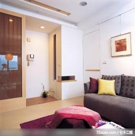 汉泽_08_北县中和市,权释设计,洪韡华,客厅,隐藏门,造型天花板,隔屏,收纳鞋柜,