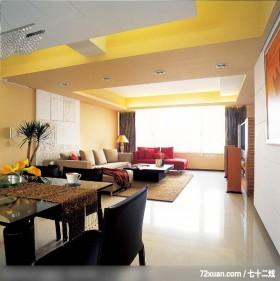 单身贵族的低调奢华感,觐得空间设计,游淑慧,餐厅,造型沙发背墙,观景窗,电视柜,造型天花板,无隔间设