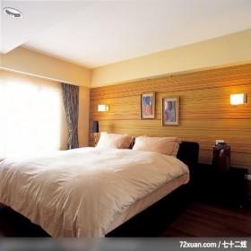 单身贵族的低调奢华感,觐得空间设计,游淑慧,卧室,造型主墙,造型天花板,阳台落地窗,床头柜,