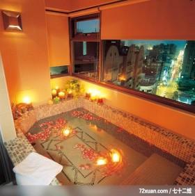 休闲古典风格,春雨时尚空间设计,周建志,浴室,汤屋,观景窗,