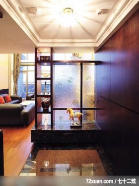 高耸的落地窗体现现代风,北京上尚格室内设计有限公司,张永雷,玄关,隔屏,展示柜,造型天花板,收纳鞋柜