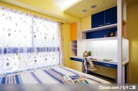 觐得_78_北市内湖,观林室内设计工程,黄传林,卧室,造型天花板,阅读区,书柜,