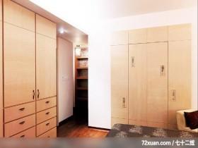 低成本中透视着奢华感,摩登雅舍室内装修,蓝永峻,卧室,隐藏门,造型衣柜,造型天花板,
