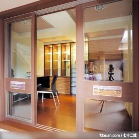 公共空间的使用概念,云邑室内设计,李中霖,书房,拉门,穿透设计,书柜,阅读区,垫高地板,