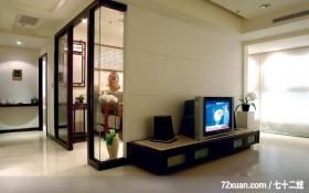简单就是美,东易日盛CBD工作室,吴巍,客厅,电视柜,视听柜,冷气摆放设计,穿透设计,造型电视主墙,