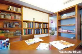 田园式风情,观林室内设计工程,黄传林,书房,冷气摆放设计,书柜,穿透设计,阅读区,