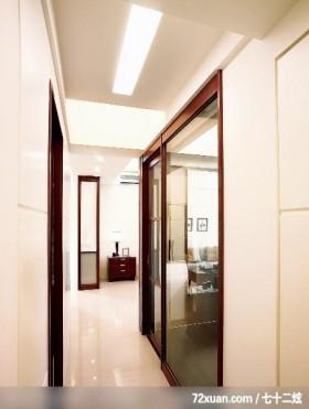 简洁的白色,龙发,王晶,走道,穿透设计,造型天花板,