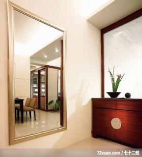 简洁的白色,龙发,王晶,玄关,整衣镜,鞋柜,造型天花板,