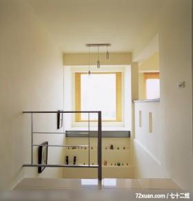 温馨与简洁的结合体,东易日盛亚奥工作室,沈戴华,楼梯间,展示柜,独创设计,