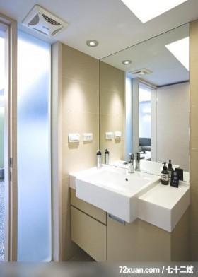 全新的现代风,龙发,殷实,浴室,洗脸台面,收纳柜,造型天花板,穿透设计,