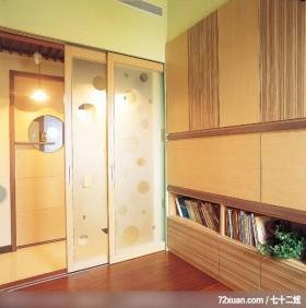 玄关收纳空间,墨比雅设计团队,王思文,多功能室,拉门,冷气摆放设计,收纳柜,