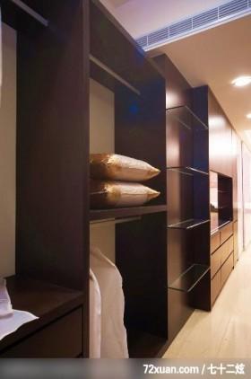 低调奢华的一家四口,龙发,殷实,卧室,造型衣柜,收纳层板,冷气摆放设计,收纳柜,