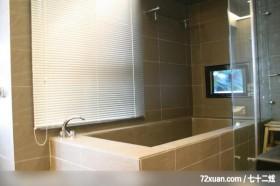 而谦_02_桃园县,云邑室内设计,李中霖,浴室,汤屋,电视墙,干湿分离隔间,