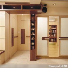 充分发挥收纳空间,墨比雅设计团队,王思文,玄关,垫高地板,拉门,冷气摆放设计,隐藏门,书柜,
