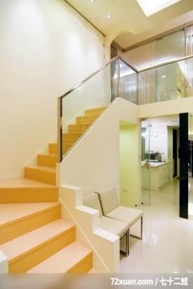 亚思_01_竹北市,春雨时尚空间设计,周建志,楼梯间,造型楼梯,穿透设计,造型天花板,