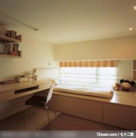 方场_01_北市,观林室内设计工程,黄传林,卧室,阅读区,书柜,造型天花板,收纳柜,