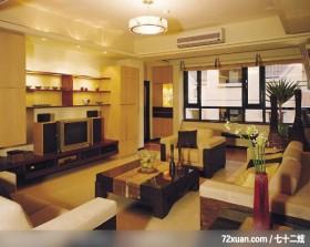 简洁的线条美,摩登雅舍室内装修,蓝永峻,客厅,收纳鞋柜,冷气摆放设计,观景窗,造型天花板,电视柜,