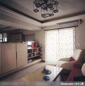 开放式休闲屋,觐得空间设计,游淑慧,客厅,电视柜,视听柜,冷气摆放设计,造型天花板,阳台落地窗,