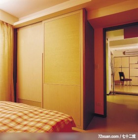 开放式休闲屋,觐得空间设计,游淑慧,卧室,造型衣橱,造型天花板,阳台落地窗,冷气摆放设计,