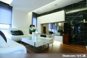 迪崴_01_北市瑞安街,艺堂室内设计,李燕堂,客厅,造型天花板,造型电视主墙,视听柜,