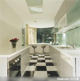 IS_39_北县,北京泰吉伟邦设计公司,高震,厨房,造型天花板,观景窗,早餐吧台,收纳柜,地板,