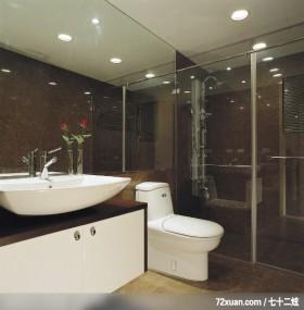 IS_39_北县,北京泰吉伟邦设计公司,高震,浴室,干湿分离隔间,洗脸台面,收纳柜,